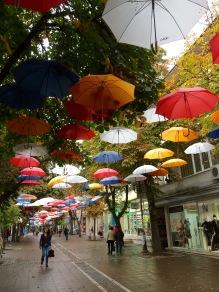 Pedestrian walk downtown Blagoevgrad
